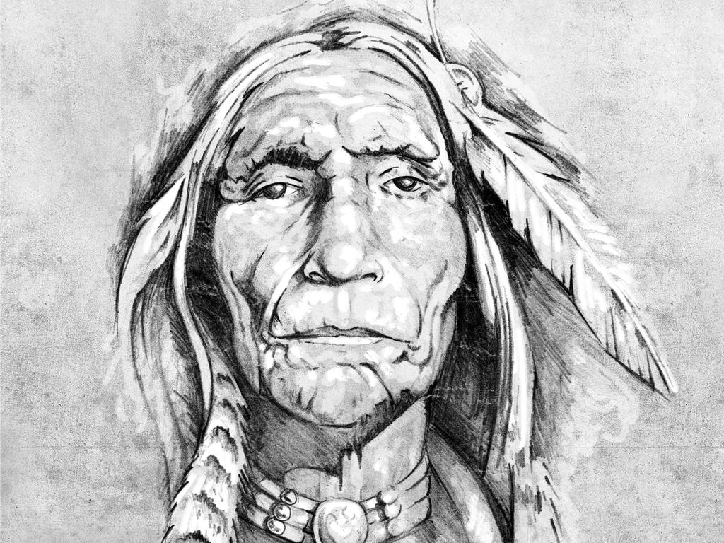 indianer zeichnung